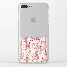 just alpacas cherry pearl Clear iPhone Case