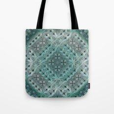 Mint Lace Tote Bag