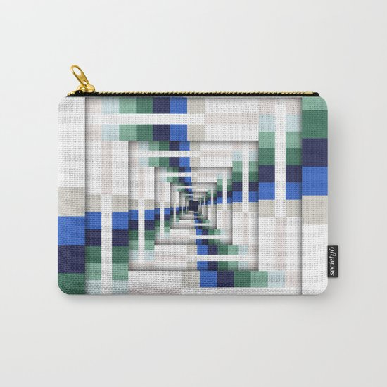 Layers of Colorful Stripes Carry-All Pouch