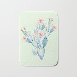 Rose Desert Cactus Mint Green + Pink by Nature Magick Bath Mat