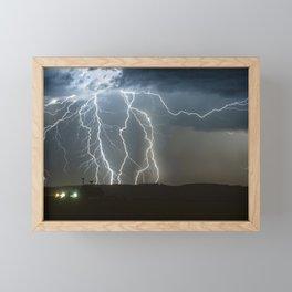 Lightning Cluster Framed Mini Art Print