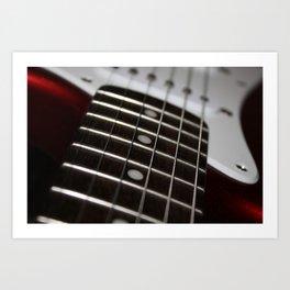 Red Stratocaster Art Print