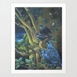 Dawn Chorus in the Primeval New Zealand Wilderness Art Print