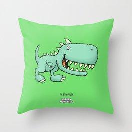 Tyrannotooth Throw Pillow