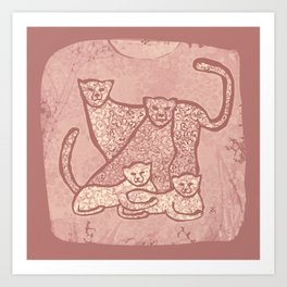 Family Cheetahs Art Print