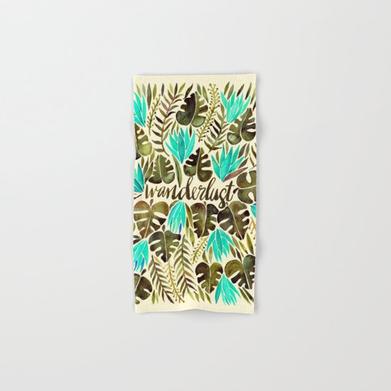 Tropical Wanderlust – Turquoise & Olive Hand & Bath Towel