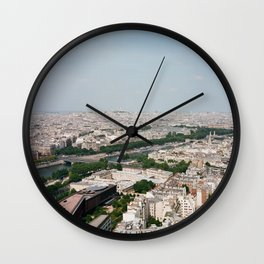 Paris From Above Wall Clock