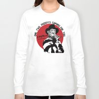 freddy krueger Long Sleeve T-shirts featuring Freddy K quote by Buby87