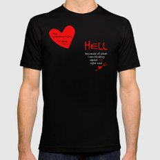 This Valentine's Day I'm Going to... HELL MEDIUM Black Mens Fitted Tee