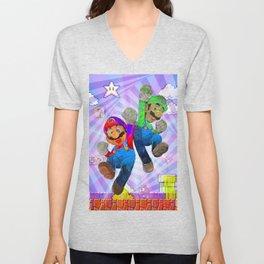 Pop Art Mario Brothers Unisex V-Neck