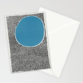 Abstract Blue Lake Stationery Cards