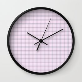 Not Your Granny's Square Pattern in Millennial Pink Wall Clock