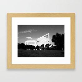Cal Poly Pomona B&W Framed Art Print