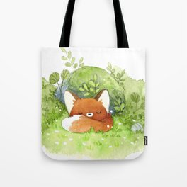 Little fox sleeping Tote Bag