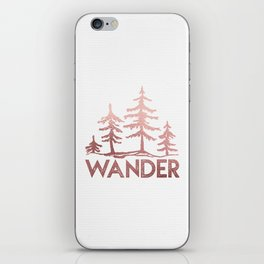 WANDER Adventure Forest Rose Gold Pink iPhone Skin