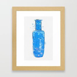 A gilt-decorated powder-blue rouleau vase Chine, Qing Dynasty, Kangxi period watercolor by Ahmet Framed Art Print