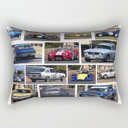 Historic Car Collage Rectangular Pillow