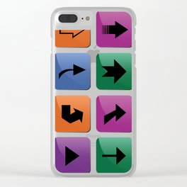 Arrow sign collection Clear iPhone Case
