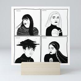 Druck - four mains Mini Art Print