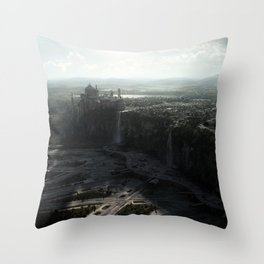 Star Wars Naboo Spaceport digital art Throw Pillow