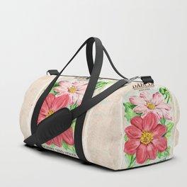 Dahlia Seed Packet Duffle Bag