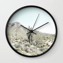 Desert photo, Cacti, Landscape, Nature Wall Clock