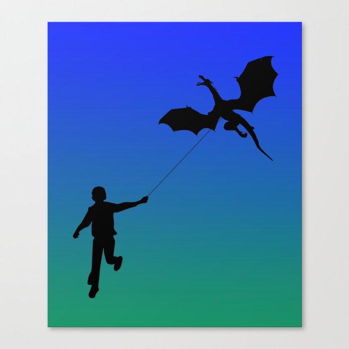 Magical Dragon Dragon (blue green) Canvas Print