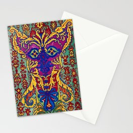 Abstract Cat Painting by Louis Wain Stationery Cards