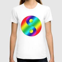 Rainbow Yin a Yang T-shirt