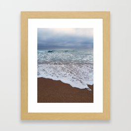 High by the beach Framed Art Print