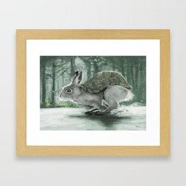 Rabbiturtle Framed Art Print