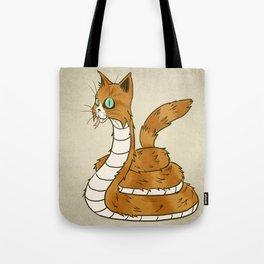 Cat Snake Tote Bag