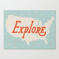 explore Canvas Prints featuring Explore by Landon Sheely