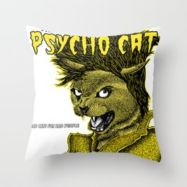 Confessions of a Psycho Cat Throw Pillow