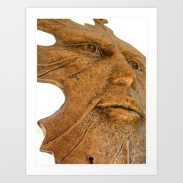 Face in the Wind  Art Print