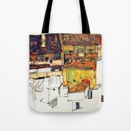 Egon Schiele - Old houses in Krumau 1914 Tote Bag