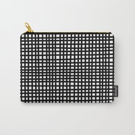 Black and White Gingham Carry-All Pouch