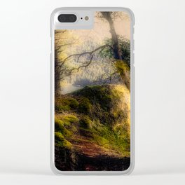 Misty Solitude, The Way Through The Woods Clear iPhone Case
