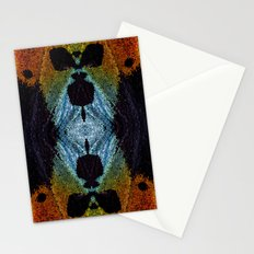 Mirrored Madagascan Sunset Moth Iridescence  Stationery Cards