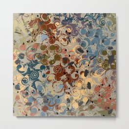 Earth Tone Abstract Metal Print