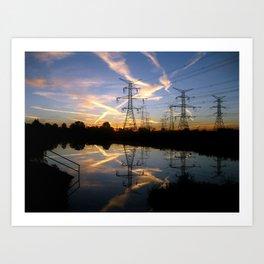 Pond Sunrise Art Print