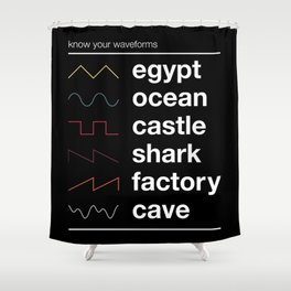 Know your Waveforms Shower Curtain