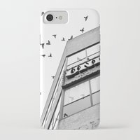 broadway iPhone & iPod Cases featuring Broadway Birds by XtinaYo
