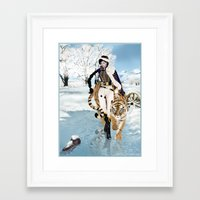 napoleon Framed Art Prints featuring Napoleon by Maihunaa