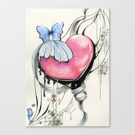 Butterfly Heart Canvas Print