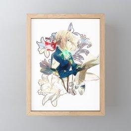 Violet Evergarden flowers print Framed Mini Art Print