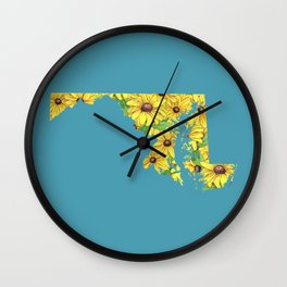 Maryland in Flowers Wall Clock