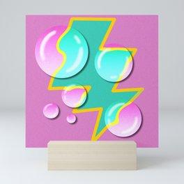 90s Kid Bubble Lightning bolt Trapper Keeper Design Mini Art Print