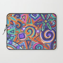 Geometric Flower Abstract Painting Laptop Sleeve
