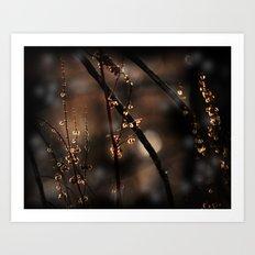 Forest Shadow Spirits Art Print